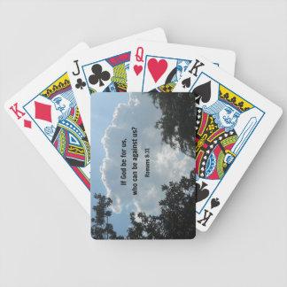 8:31 de los romanos si dios esté para nosotros… baraja de cartas