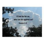 8:31 de los romanos si dios esté para nosotros… tarjeta postal
