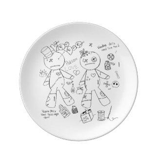 "8.5"" Decorative Porcelain Voodoo Plate"