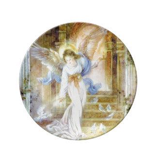 "8,5"" placa decorativa ""ángel de la porcelana de la platos de cerámica"