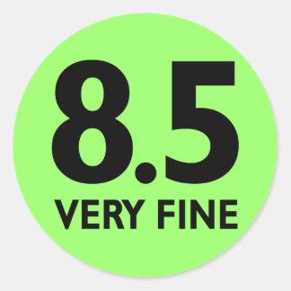 8 5 VERY FINE ROUND STICKER