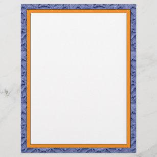 85x11 letterhead orange and blue border
