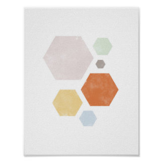 "8.5"" x 11"", Colorful Shape Poster"