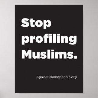 "8.5"" x 11"", Stop Profiling Muslims Poster (Matte)"