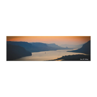 8.63 x 29.85 Sunrise on the Columbia River Gorge Gallery Wrap Canvas
