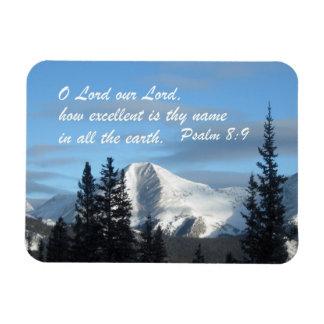 8:9 del salmo imán rectangular