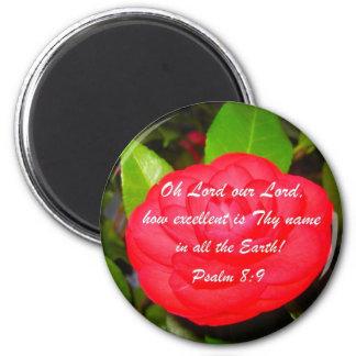 8:9 del salmo imán redondo 5 cm