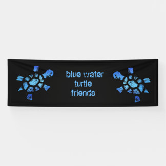 8' amigos de x2.5 de las tortugas del agua azul lona