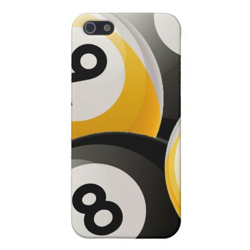 8 and 9 Billiard Balls Collage  Case For iPhone 5