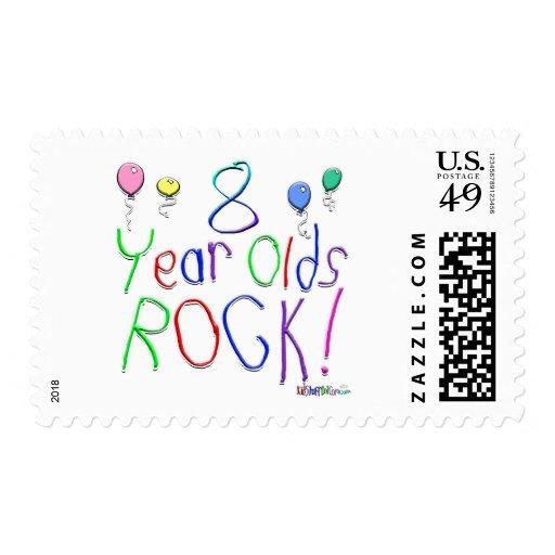 ¡8 años de la roca! sellos postales