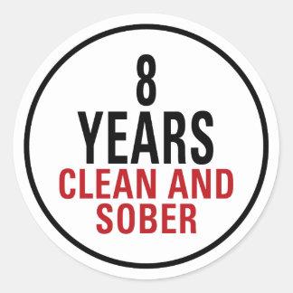 8 años limpian y calman pegatina redonda