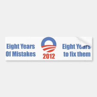 8 años para Obama Pegatina Para Auto