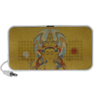 8 Arm Guan Yin Doodle Speaker Bamboo Background