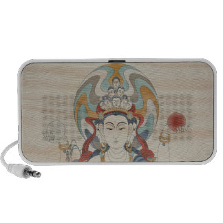 8 Arm Guan Yin Doodle Speaker Doug Fir Background