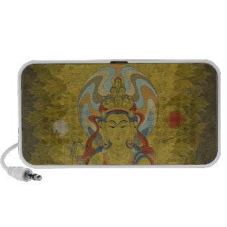 8 Arm Guan Yin Doodle Speaker Maple Leaf Backgr