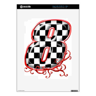 8 auto racing number iPad 2 decals