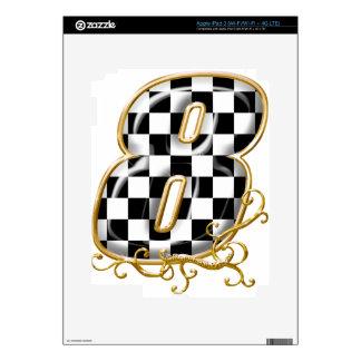8 auto racing number iPad 3 skin