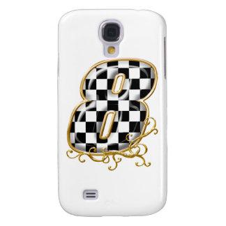 8 auto racing number samsung s4 case