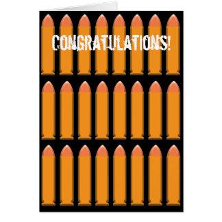 8 BALAS en fondo negro Tarjeta De Felicitación
