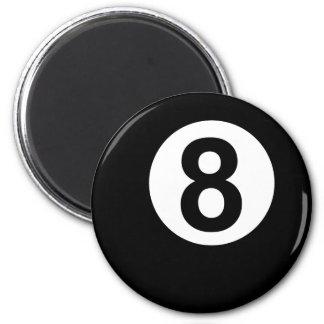 8 Ball 2 Inch Round Magnet