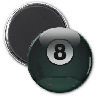 8-Ball 2 Inch Round Magnet