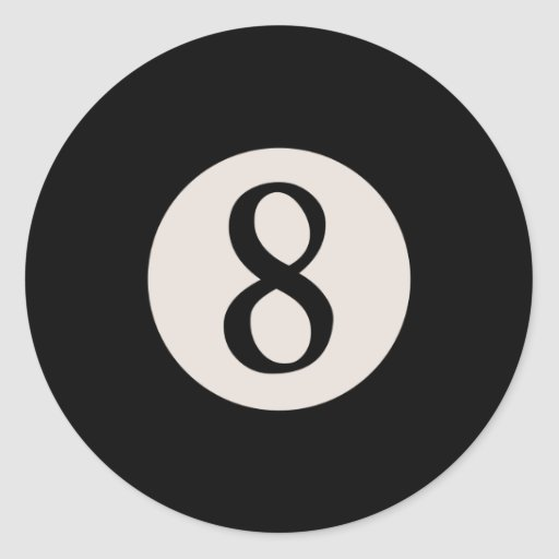 8-Ball 8 Classic Round Sticker
