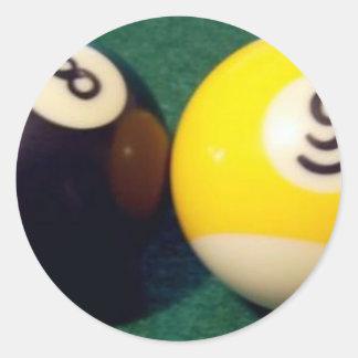 8-Ball 9-Ball Classic Round Sticker