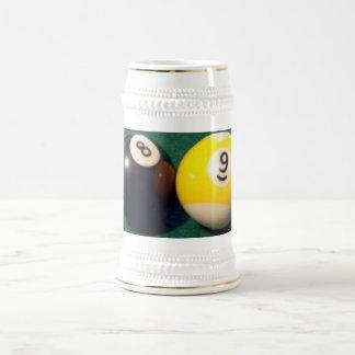 8-Ball 9-Ball 18 Oz Beer Stein