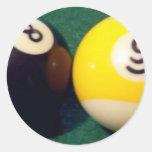 8-Ball 9-Ball Pegatina Redonda