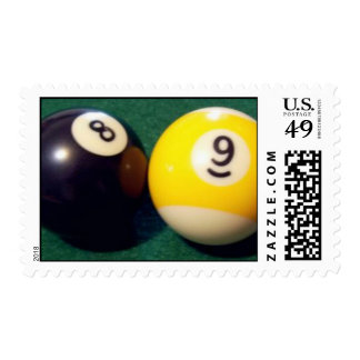 8-Ball 9-Ball Timbres Postales