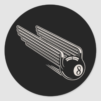 8-Ball - Aero- alas Etiqueta Redonda