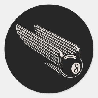 8-Ball - Aero- alas Pegatina Redonda