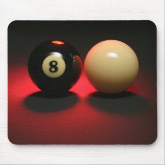 8 Ball and Cue Ball Mouse Pad