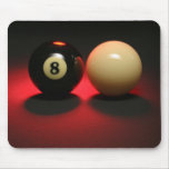 8 Ball and Cue Ball Mousepad