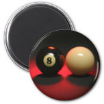 8 Ball and Cue Ball Refrigerator Magnets