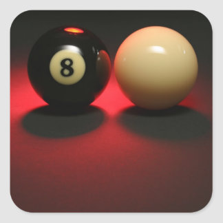8 Ball and Cue Ball Square Sticker