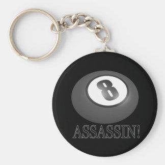 8 Ball Assassin Keychain