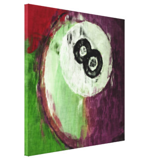 8 Ball Billiards Abstract Canvas Print