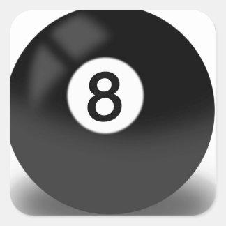 8 Ball - Billiards Square Sticker