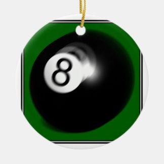 8 Ball Ceramic Ornament