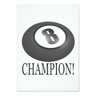 8 Ball Champion Card