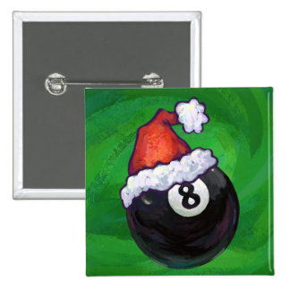 8 Ball Christmas Green Pins