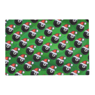 8 Ball Christmas Placemat