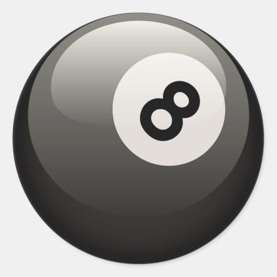 8 BALL CLASSIC ROUND STICKER