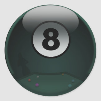8-Ball Classic Round Sticker