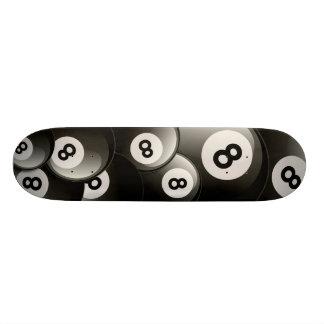 8 BALL COLLAGE SKATE BOARD DECK
