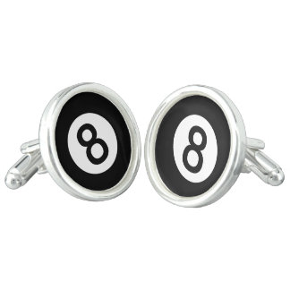 8 Ball Cuff Links