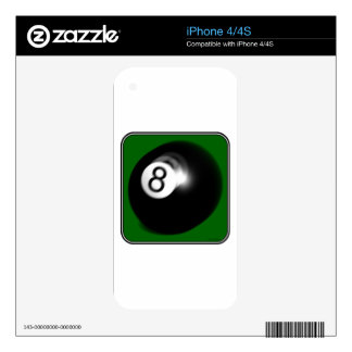 8 Ball Decal For iPhone 4