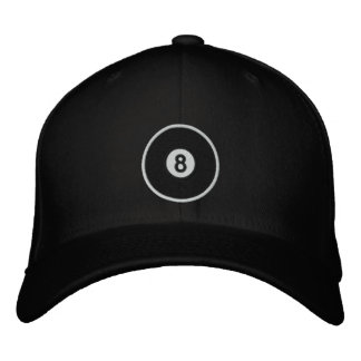 8 Ball Embroidered Baseball Cap
