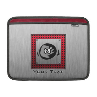 8 ball Faux Brushed Aluminum Red Sleeves For MacBook Air